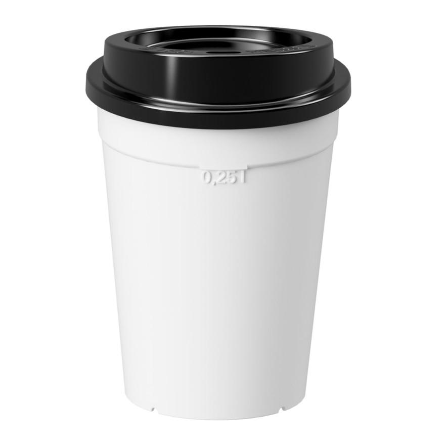 Coffee to go Deckel schwarz Ø 80mm - Nachhaltig